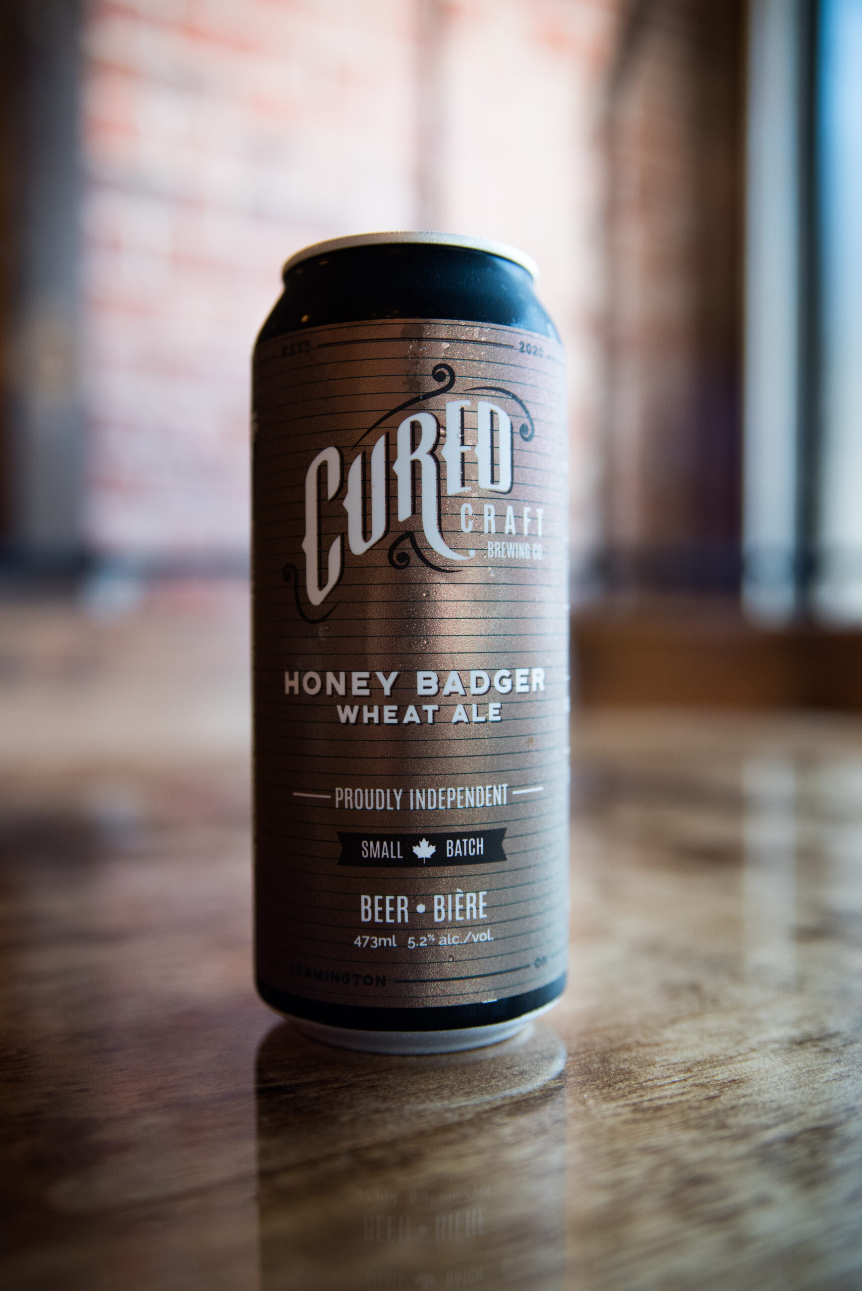 Honey Badger Wheat Ale from Cured Craft Brewing Co. in Leamington, Ontario.