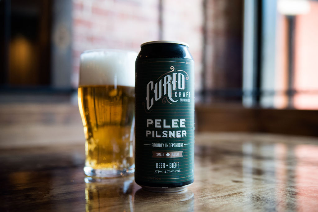 Pelee Pilsner from Cured Craft Brewing Co. in Leamington, Ontario.