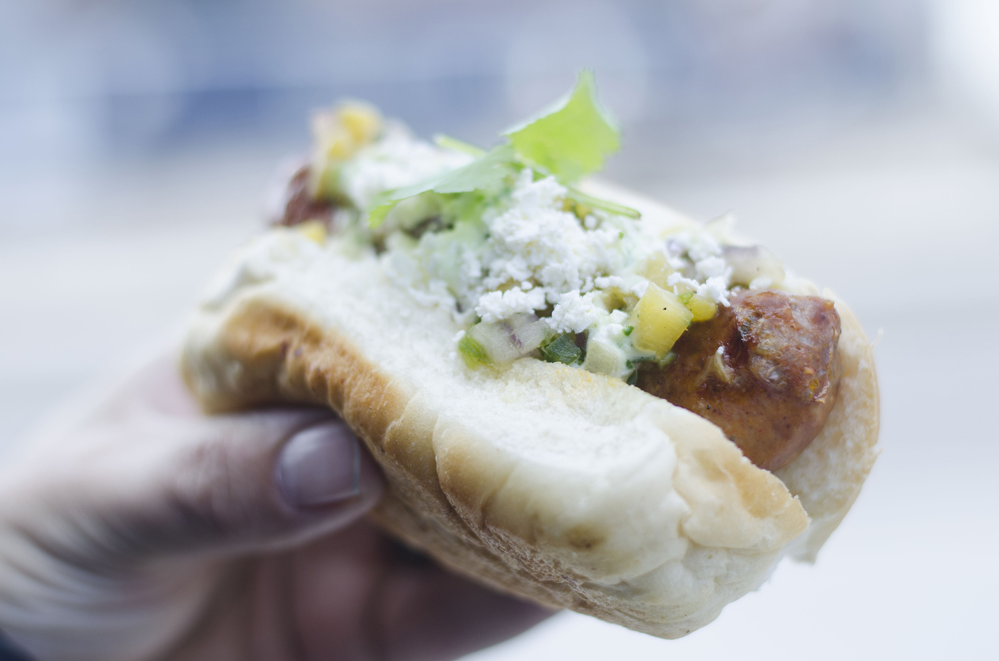 The Al Pastor Sausage is part of the Master Chef Sausage Series from Robbie's Gourmet Sausage Co. in Windsor, Ontario.
