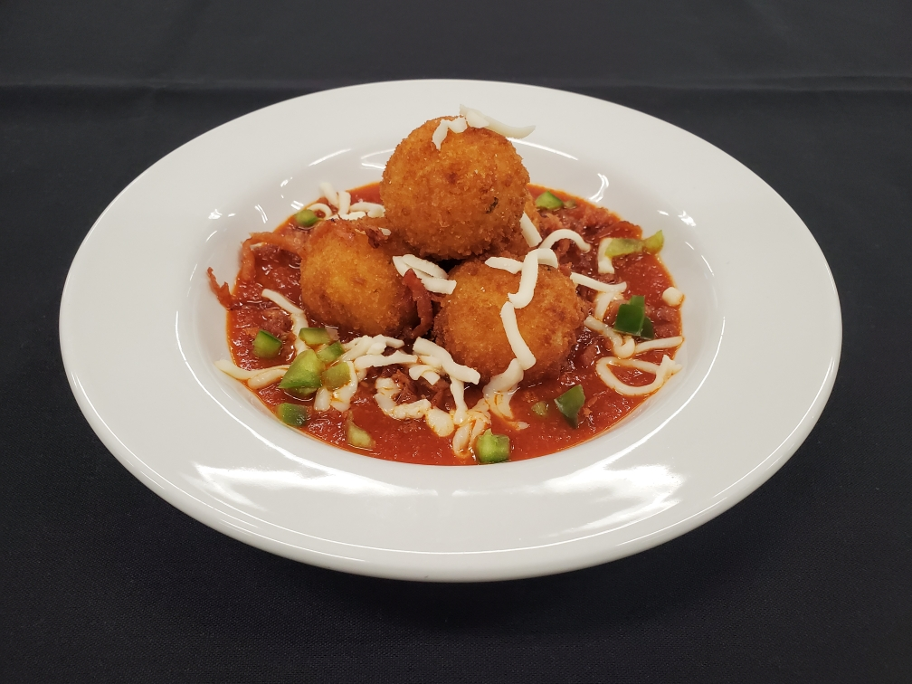 Pizza Arancini from St. Clair College in Windsor, Ontario.