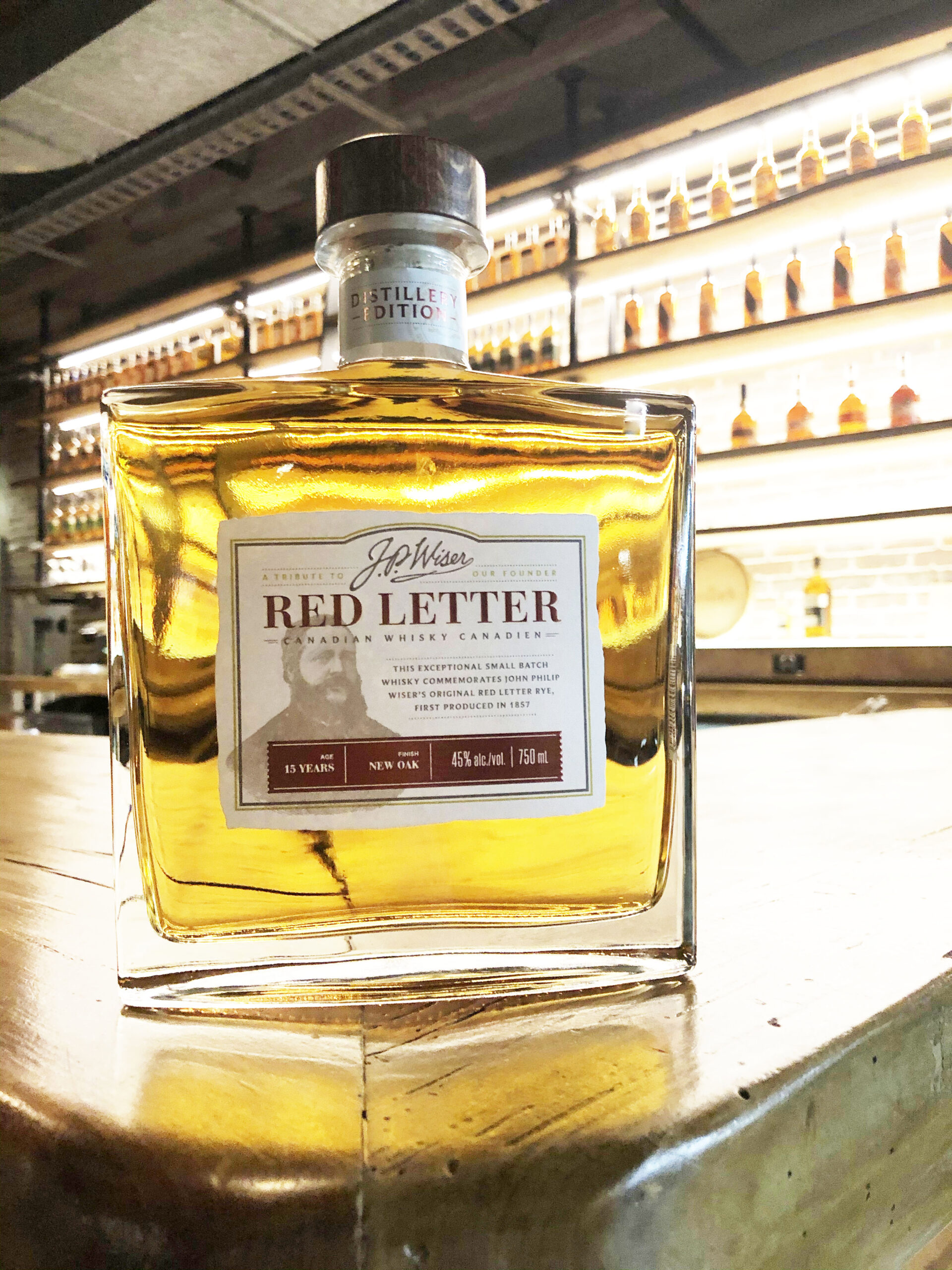 J.P. Wiser's Red Letter Distillery Edition Canadian Whisky.