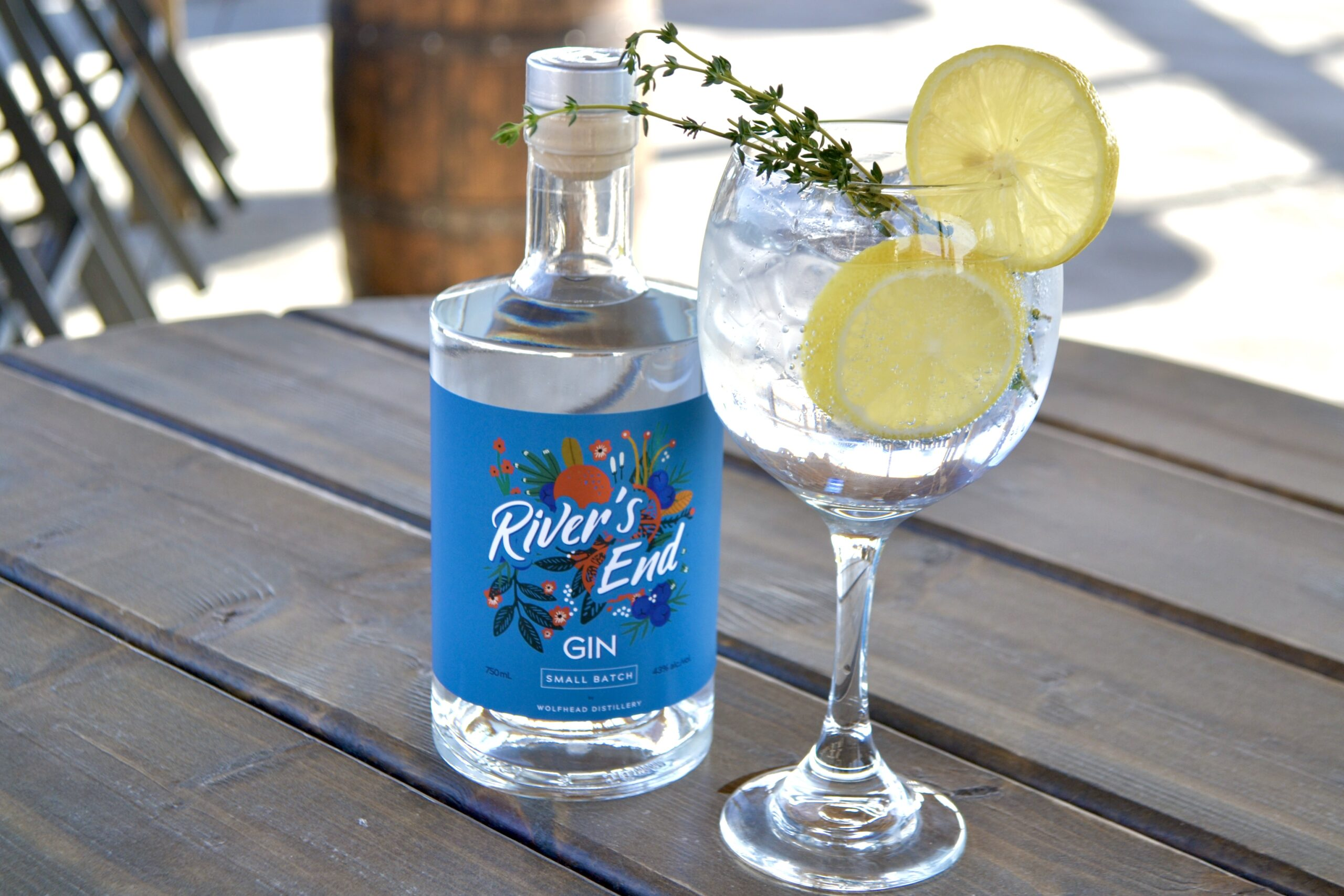 River's End Gin from Wolfhead Distillery in Amherstburg, Ontario.