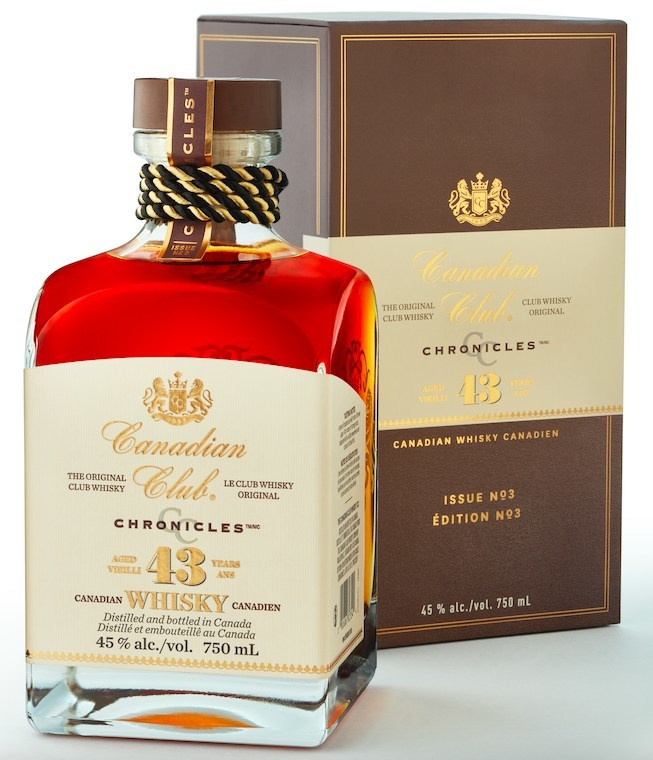 The 43-Year-Old Canadian Club Chronicles has been named Canada's best whisky at the eleventh annual Canadian Whisky Awards.