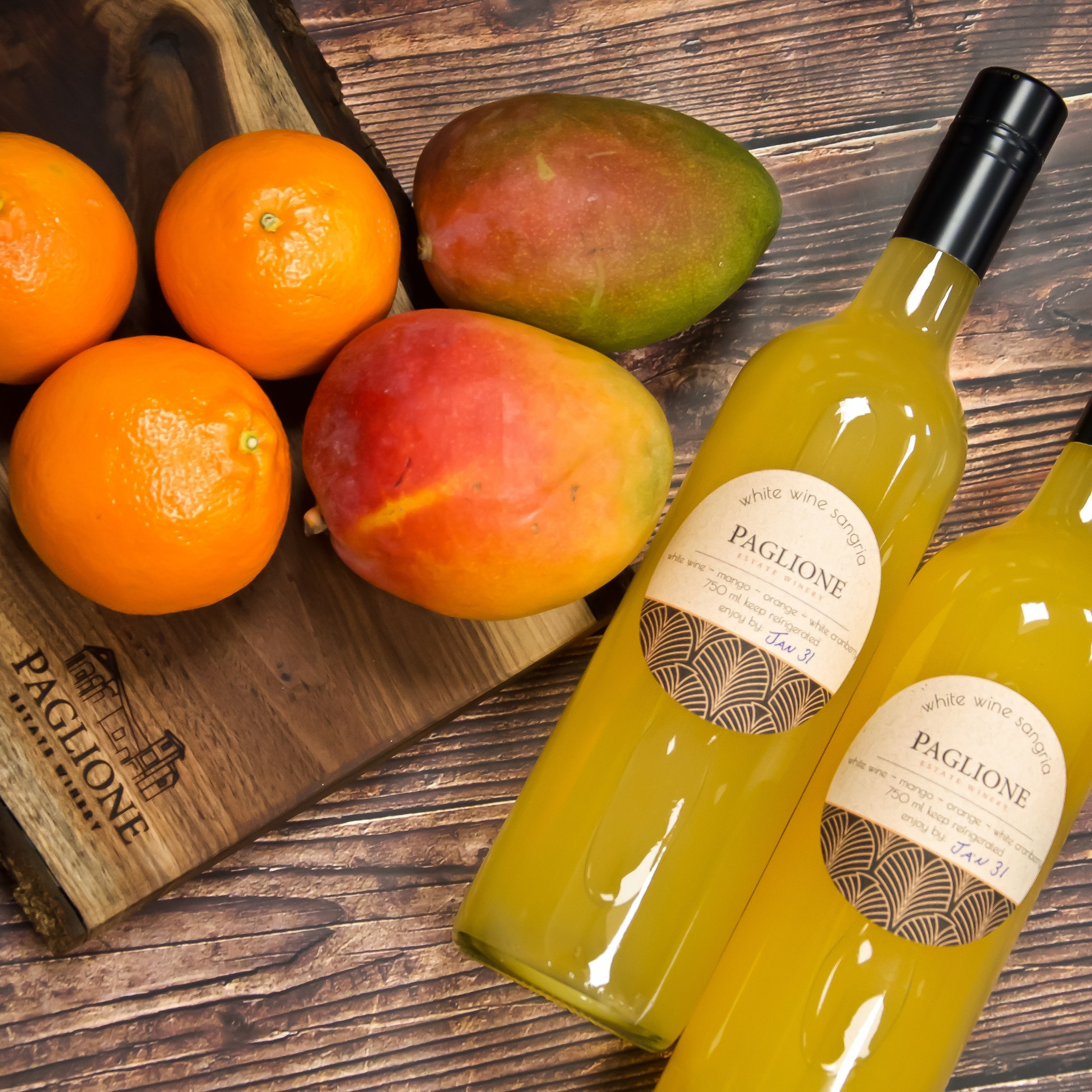 Riesling Mango Sangria from Paglione Estate Winery in Colchester, Ontario.
