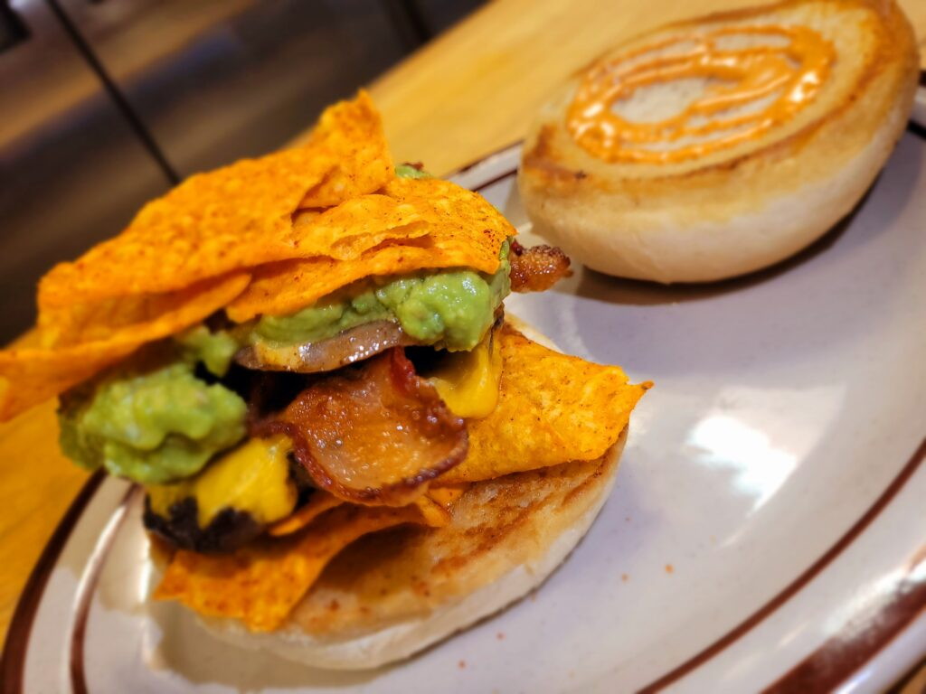 The Mexican Street Burger from Rico Taco in Windsor, Ontario.